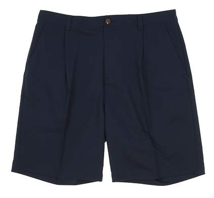 New Mens Adidas Golf Pleated Shorts Size 36 Navy Blue MSRP $60
