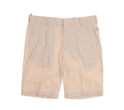 New Mens Adidas Golf Shorts Size 32 Tan MSRP $65