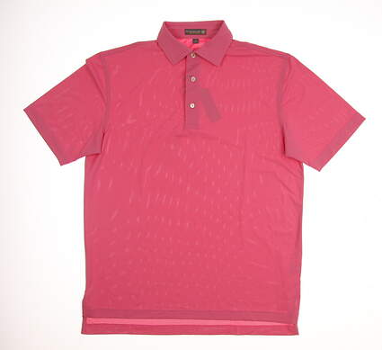 New Mens Peter Millar Solid Stretch Mesh Polo Small S Moroccan Pink MSRP $79 MS17EK50S