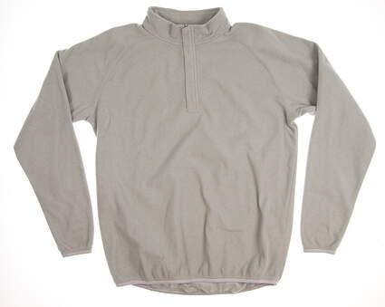 New Mens Peter Millar Fleece 1/4 Zip Pullover Medium M Gray MSRP $125 MF14EK60