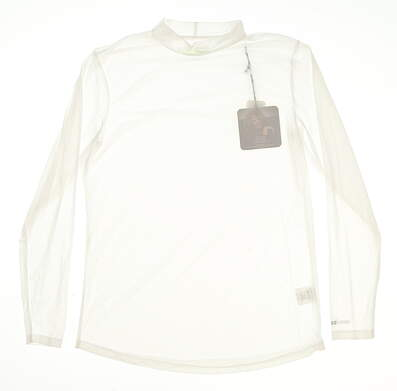New Womens Jamie Sadock Golf Long Sleeve Small S White MSRP $60