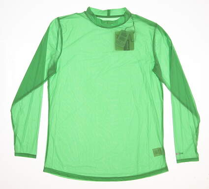 New Womens Jamie Sadock Golf Long Sleeve Sunsense SPF 30 Large L Green MSRP $60