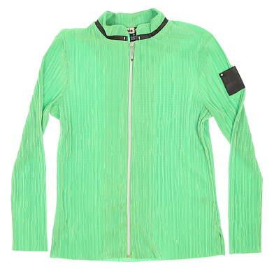 New Womens Jamie Sadock Golf Full Zip Sweatshirt Medium M Green MSRP $100
