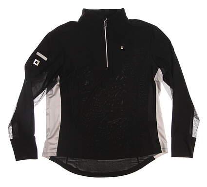 New Womens Jamie Sadock 1/4 Zip Golf Pullover Large L Black MSRP $89 52161