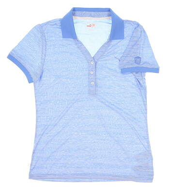 New Womens Puma Golf Polo Medium M Blue MSRP $65 568343