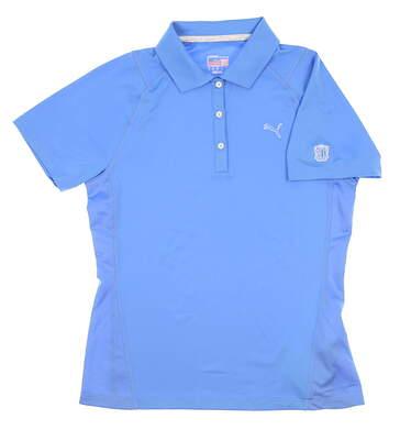 New W/ Logo Womens Puma Golf Polo Medium M Blue MSRP $65 568338
