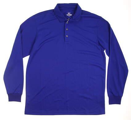 New Mens Mizuno Golf Polo Medium M Blue MSRP $77 250143