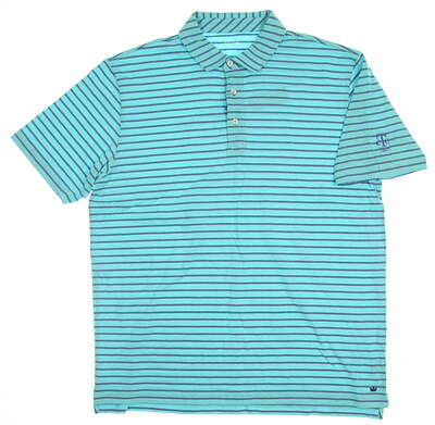 New W/ Logo Mens Peter Millar Golf Polo X-Large XL Beach Glass MSRP $86 MS17K72
