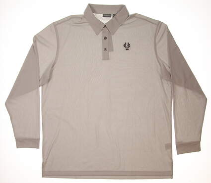 New W/ Logo Mens Ashworth All Polo X-Large XL Gray MSRP $66