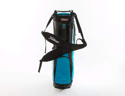 New Titleist Players 5 Black/Blue/Custom White Stand Bag 5 Way Top 8.5 in Mouth