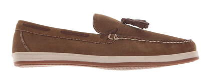 New W/O Box Mens Golf Shoe Peter Millar Loafer Medium 9 Brown MSRP $300