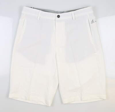 New Mens Adidas Ultimate 365 3-Stripes Golf Shorts Size 32 White MSRP $65 BC2524