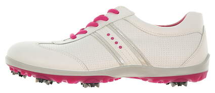 New Womens Golf Shoe Ecco Casual Cool 39 (8-8.5) White/Pink MSRP $140