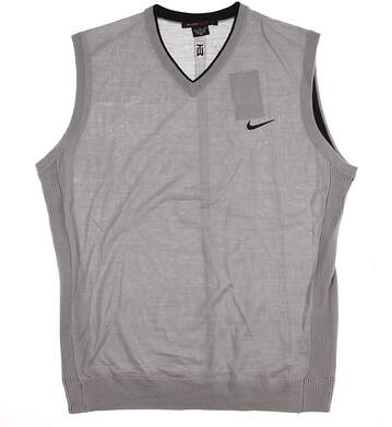 New Mens Nike TW Wool Sweater Vest X-Large XL Gray MSRP $140 726232