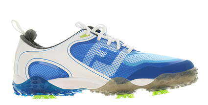 New Mens Golf Shoe Footjoy Freestyle Medium 10 Blue/White MSRP $160 57340