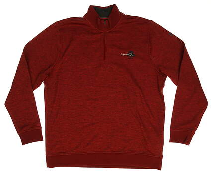 New W/ Logo Mens Under Armour Golf 1/4 Zip Sweater X-Large XL Maroon MSRP $96 UM1274