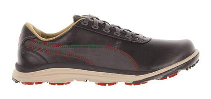 New Mens Golf Shoe Puma BioDrive Leather 10 Steel Gray/Spicy Orange MSRP $200