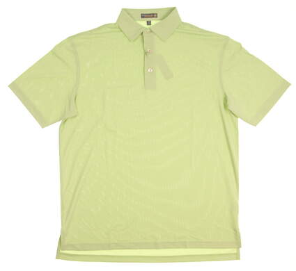 New Mens Peter Millar Golf Polo Large L Green MSRP $90 MS17EK50S