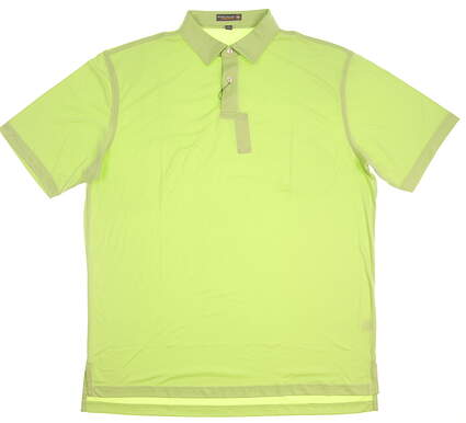 New Mens Peter Millar Golf Polo Large L Green MSRP $86 MS17EK43