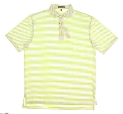 New Mens Peter Millar Golf Polo Medium M Green MSRP $99 MS17EK02S