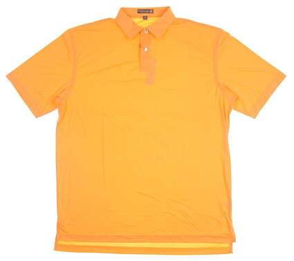New Mens Peter Millar Golf Polo Large L Orange MSRP $86 MS17EK43