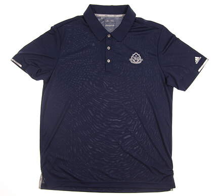 New W/ Logo Mens Adidas Climachill Solid Club Golf Polo Large L Navy Blue MSRP $88 BC2958