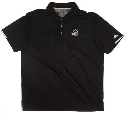 New W/ Logo Mens Adidas Climachill Solid Club Golf Polo Large L Black MSRP $88 BC2961