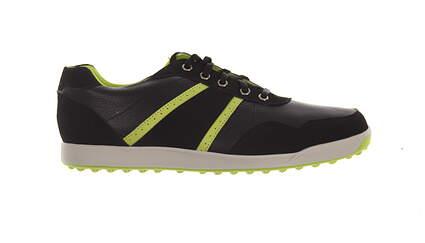 New Mens Golf Shoe Footjoy Contour Casual Medium 11 Black/Green MSRP $140