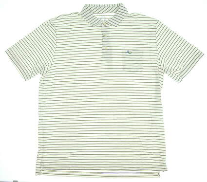 New W/ Logo Mens Peter Millar Golf Polo X-Large XL White Multi MSRP $88 MF16K71