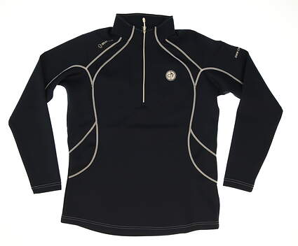 New W/ Logo Womens SUNICE Golf 1/4 Zip Pullover Large L Blue MSRP $101 S77500