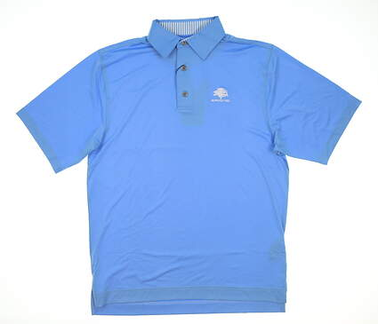 New W/ Logo Mens Footjoy Golf Polo Small S Blue MSRP $72 32963