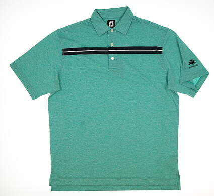New W/ Logo Mens Footjoy Golf Polo Large L Green MSRP $76 22733