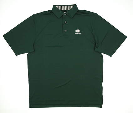 New W/ Logo Mens Footjoy Golf Polo Large L Green MSRP $65 32901