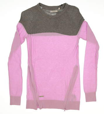 New Womens Adidas Golf Sweater Small S Pink MSRP $91 B22352