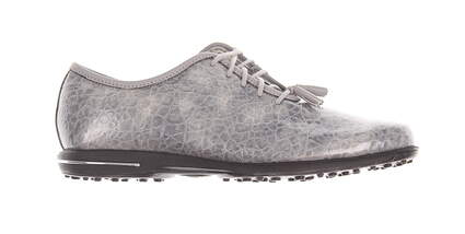New Womens Golf Shoe Footjoy Tailored Collection Medium 7.5 Silver MSRP $150