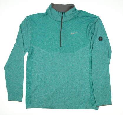 New W/ Logo Mens Nike Golf 1/2 Zip Sweater XX-Large XXL Blue MSRP $116 726580