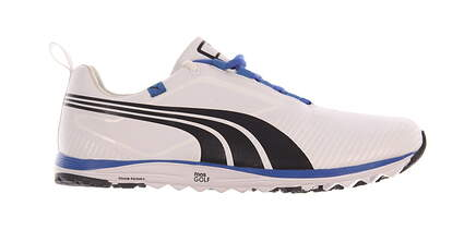 New W/O Box Mens Golf Shoe Puma Faas Lite 8.5 White/Blue MSRP $200