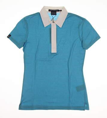 New Womens Ralph Lauren Golf Polo X-Small XS Blue MSRP $90 0490684