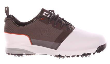 New Mens Golf Shoe Footjoy ContourFIT Medium 11.5 White/Brown MSRP $100