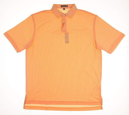 New Mens Peter Millar Golf Polo Medium M Orange MSRP $85 MS17EK44