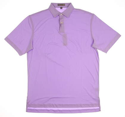 New Mens Peter Millar Golf Polo Small S Purple MSRP $75 MS17EK43