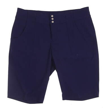 New Womens Jo Fit Belted Bermuda Golf Shorts Size 8 Navy Blue MSRP $84 GB517-BLD