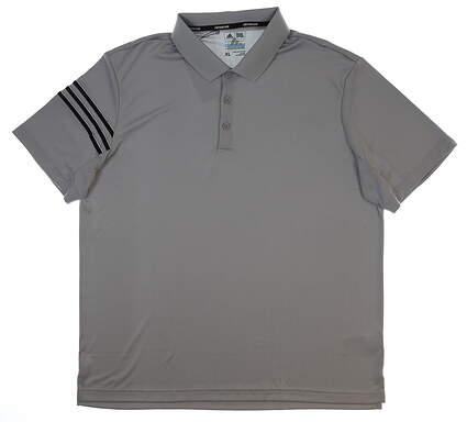 New Womens Adidas Climacool 3-Stripe Club Polo X-Large XL Gray MSRP $80 BC2433