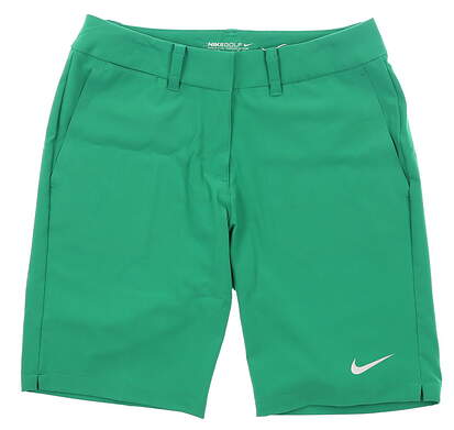 New Womens Nike Golf Shorts Size 0 Green MSRP $85 725768