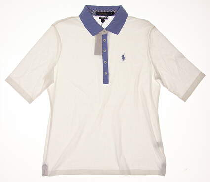 New Womens Ralph Lauren Golf 3/4 Sleeve Polo X-Large XL White MSRP $90 281594920001