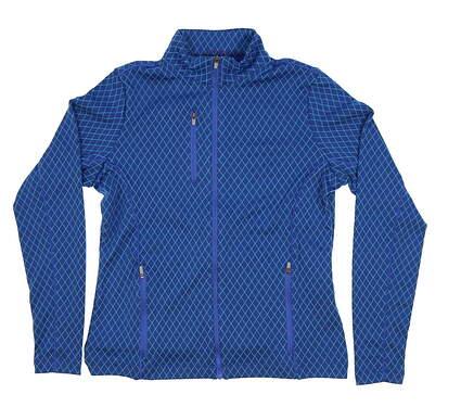 New Womens Peter Millar Golf Full Zip Sweatshirt Small S Blue MSRP $120 LS17EK20