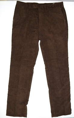 New Mens Peter Millar Nanoluxe Corduroy Golf Pants Size 40 Brown MSRP $145 MF15B91