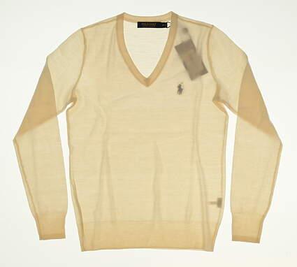 New Womens Ralph Lauren Golf Sweater X-Small XS White MSRP $145 W FALLCL15