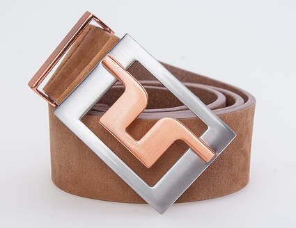 New Mens J. Lindeberg Slater 40 Brushed Leather Belt Size 32 MSRP $95