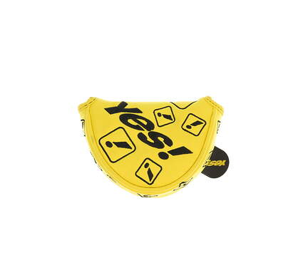 Yes C-Groove Exclamation Small Mallet Putter Headcover Yellow/Black